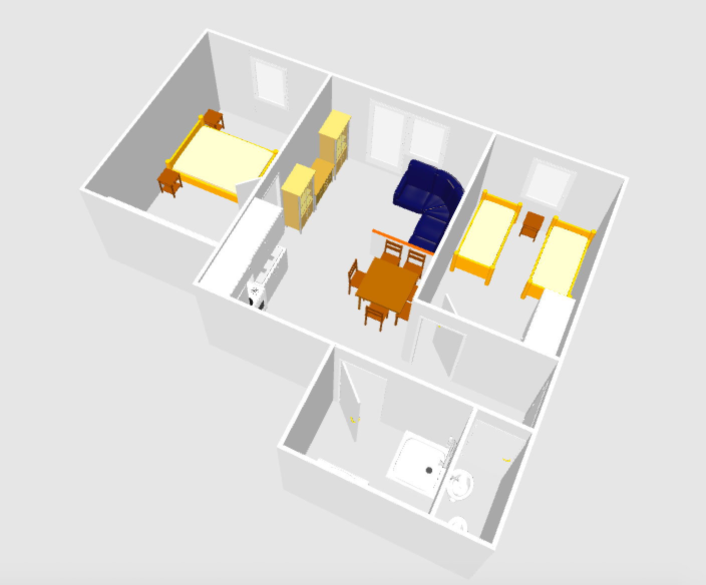 Layout of apartment 3