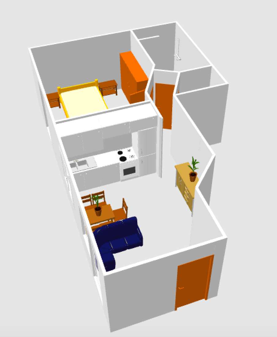 Layout of apartment 1