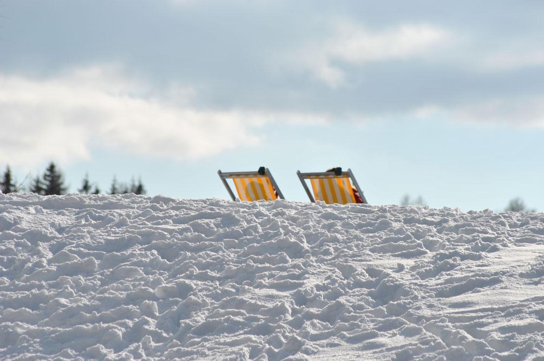 Sonnen im Schnee